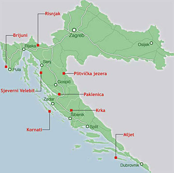 Nationalparks in Kroatien