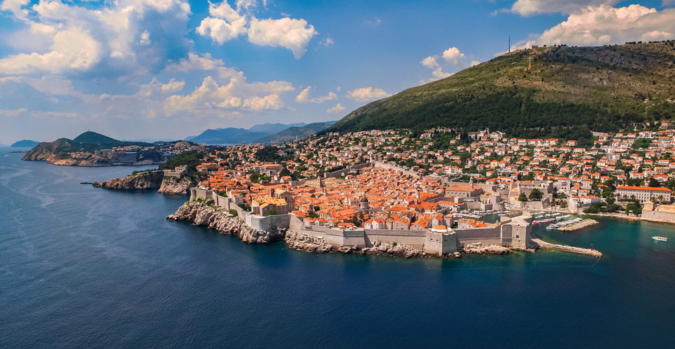 Aerial view of Dubrovnik - photo