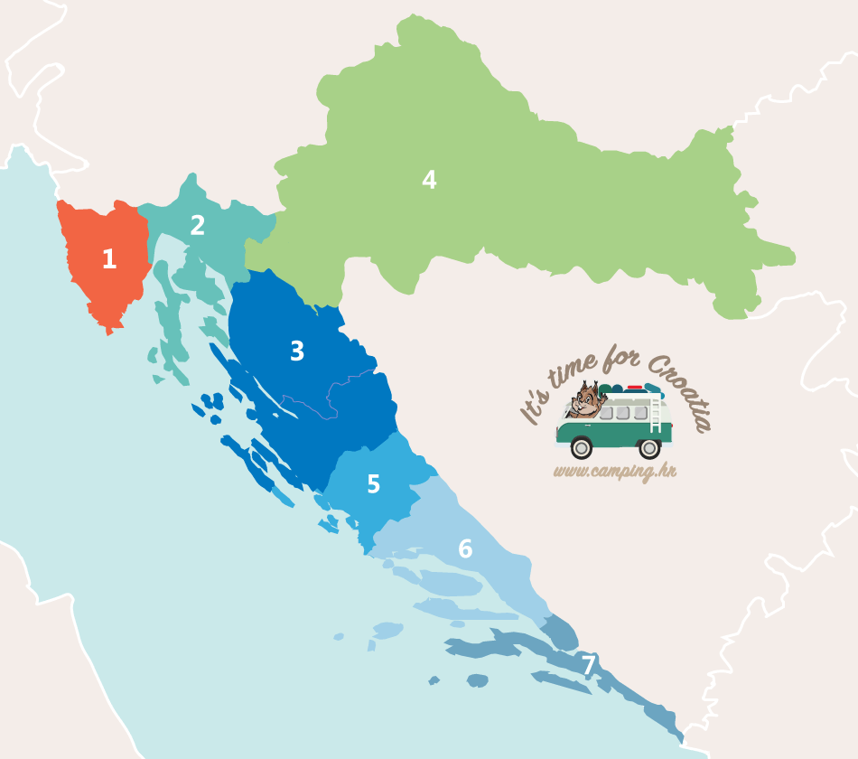 Map of Croatia - photo