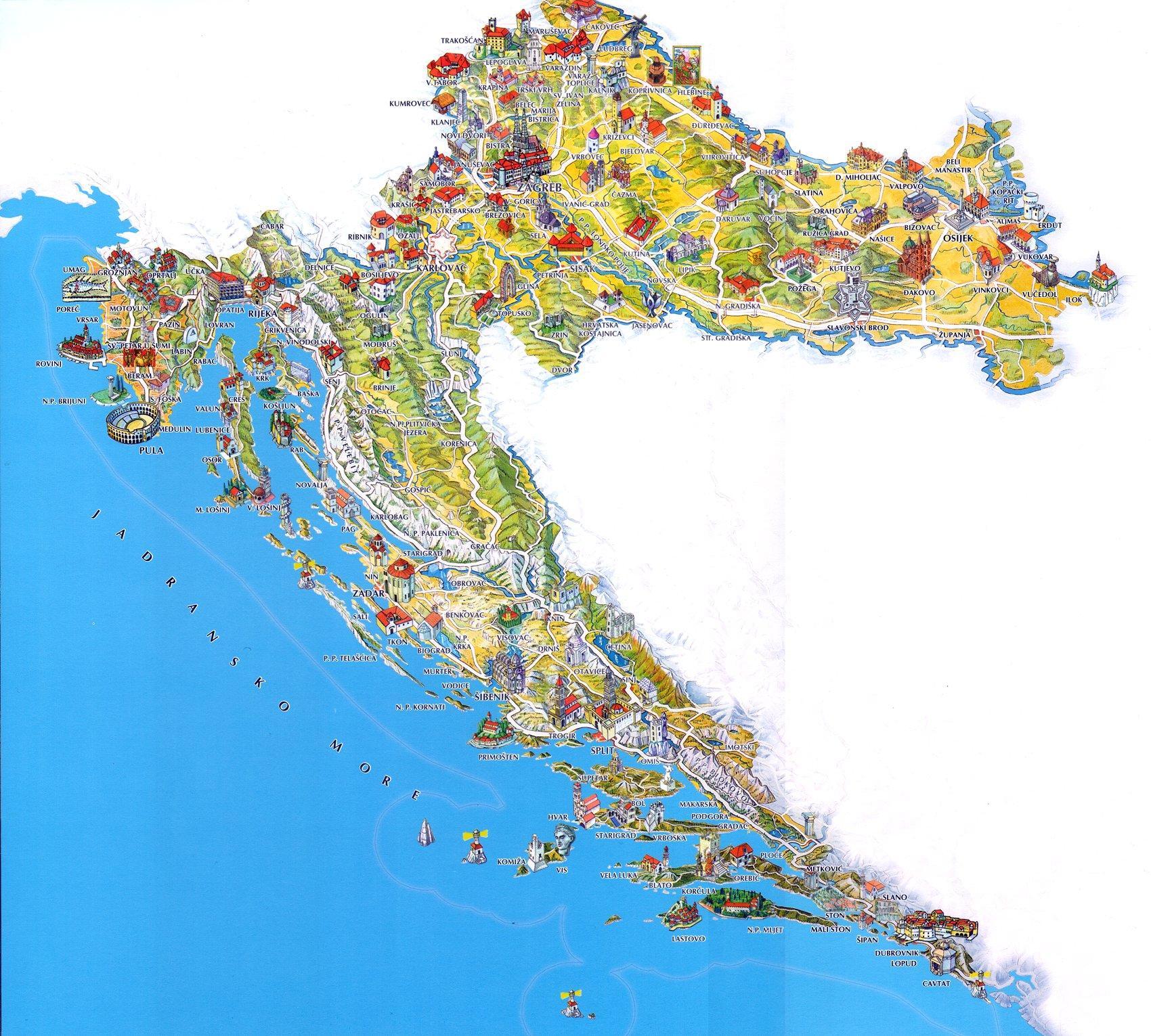 campingplätze kroatien karte Kroatien mit dem Wohnmobil (WoMo)   Kroatische Camping Union campingplätze kroatien karte