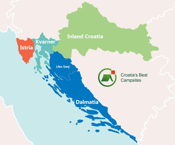 Map of Croatian Regions