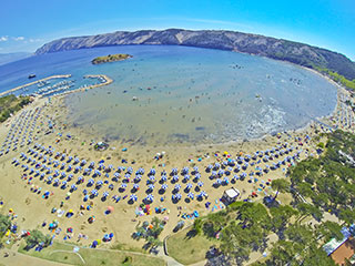 Croatian beach on Lopar