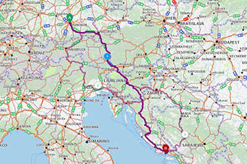 GPS campsite coordinates - Croatian Camping Union - Croatian Camping