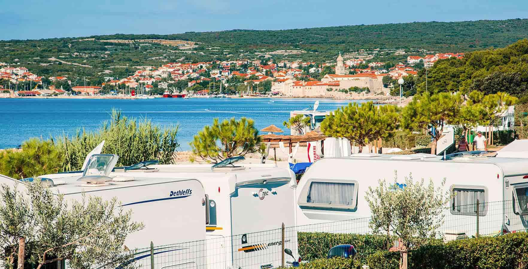 Campsite Krk - panoramic view