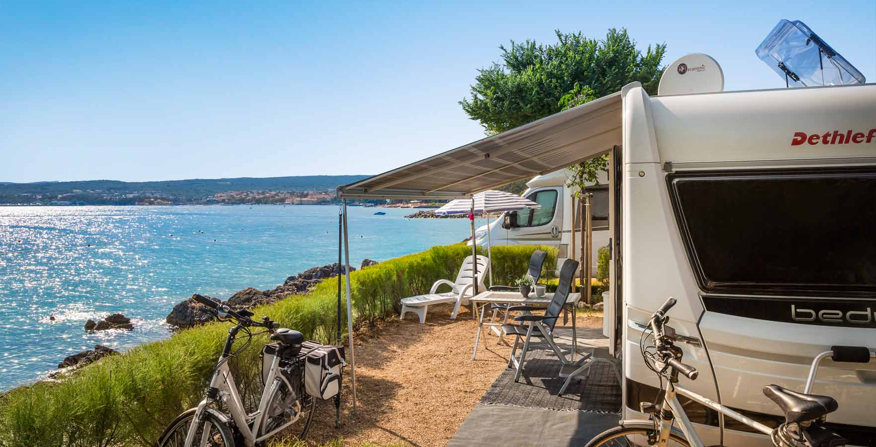 Campsite Krk - pitches by the sea