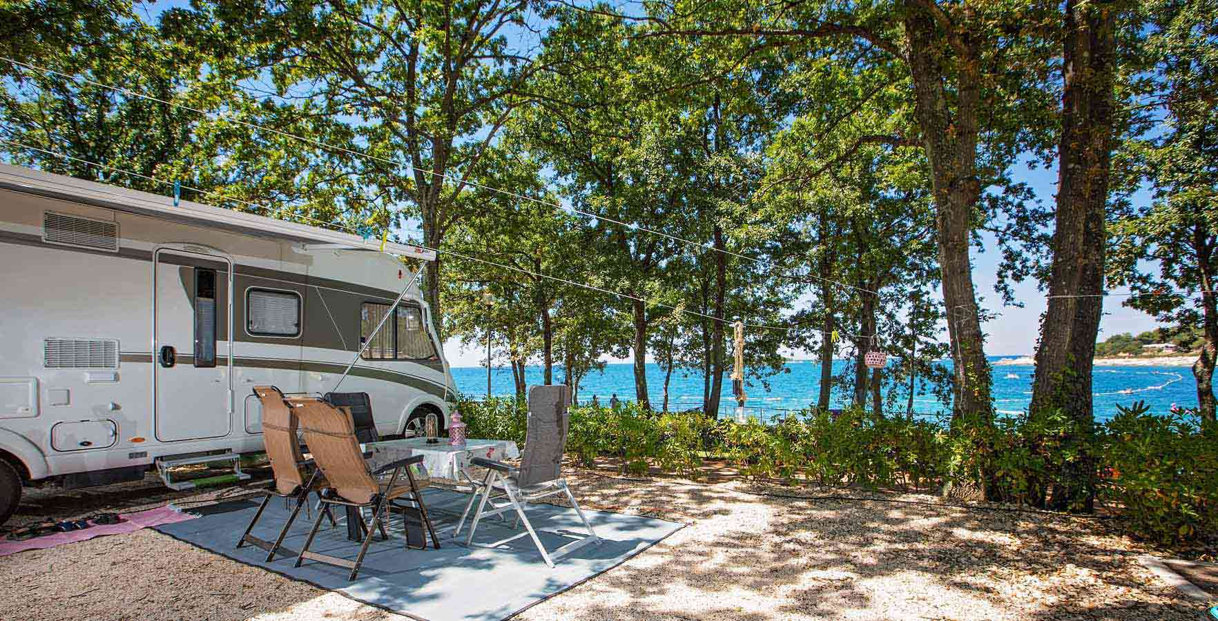 Campsite Bijela Uvala - pitches by the sea
