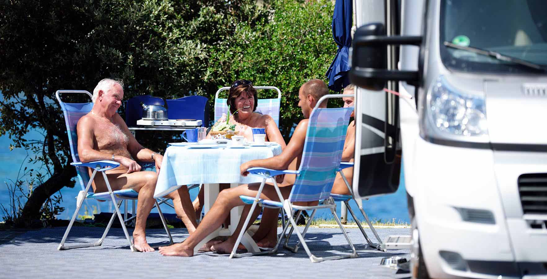 Naturist Camping Koversada - pitches by the sea
