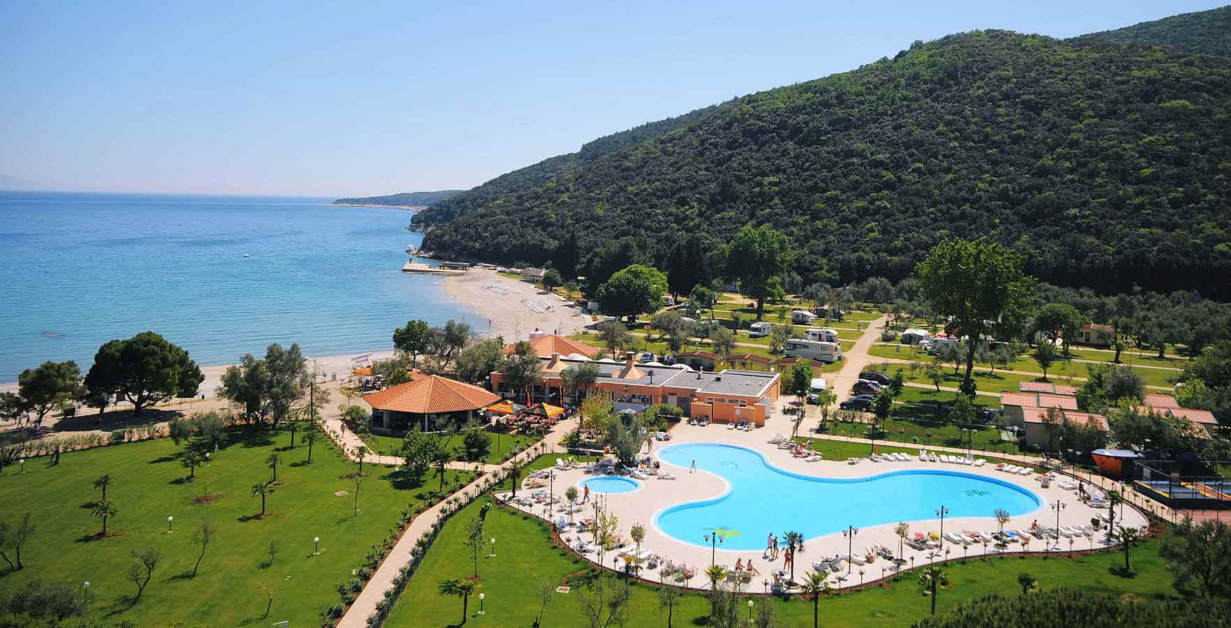 Camping oliva rabac croatian camping union croatian Campsites in poole with swimming pool