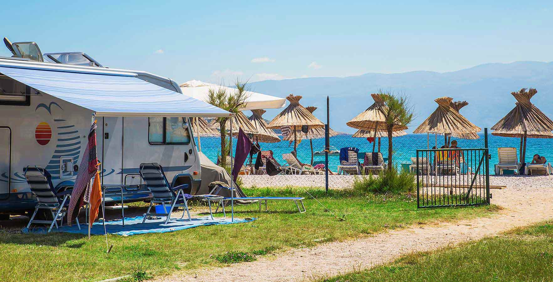 Camp Zablace - camping on the coastline