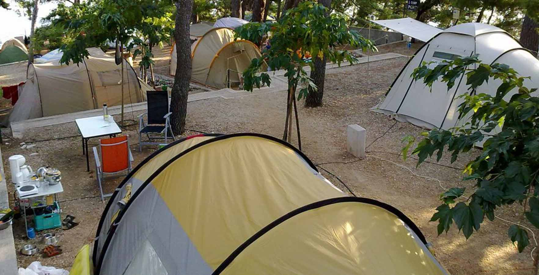 Campsite Ponta - camping in the shade