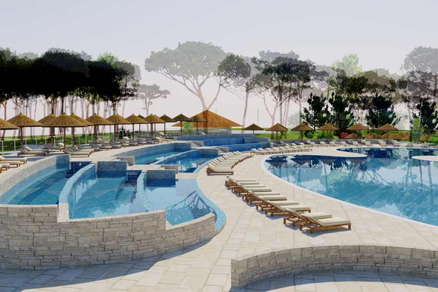 New Swimming Pools In Zaton Holiday Resort Croatian Camping Union