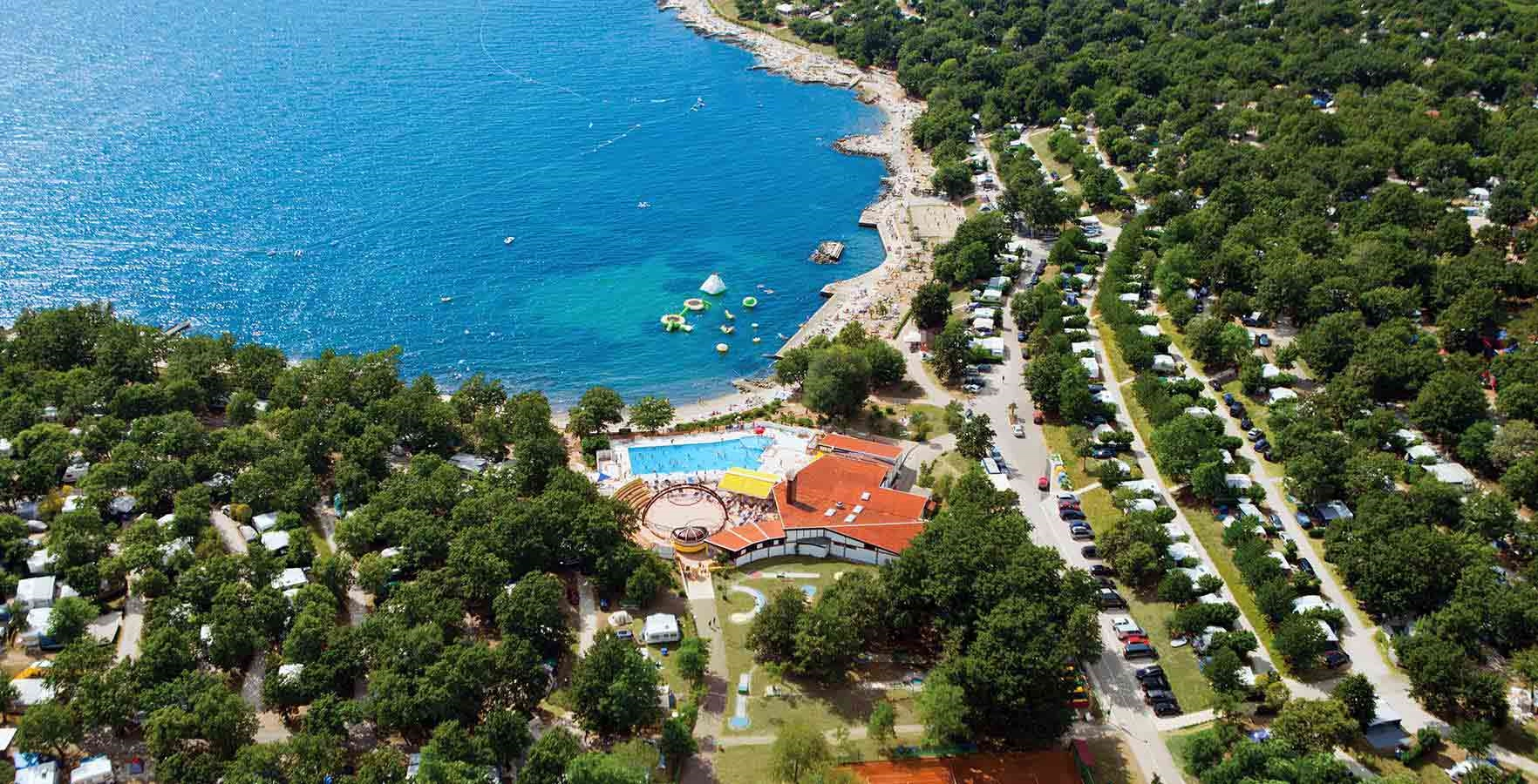 Campsite Bijela Uvala - camping on the sea