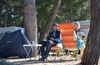 Winter camping on the island of Lošinj